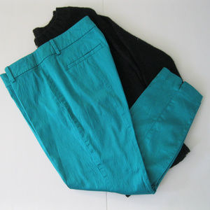 Ann Taylor Satin Riviera Ankle Pants In Teal